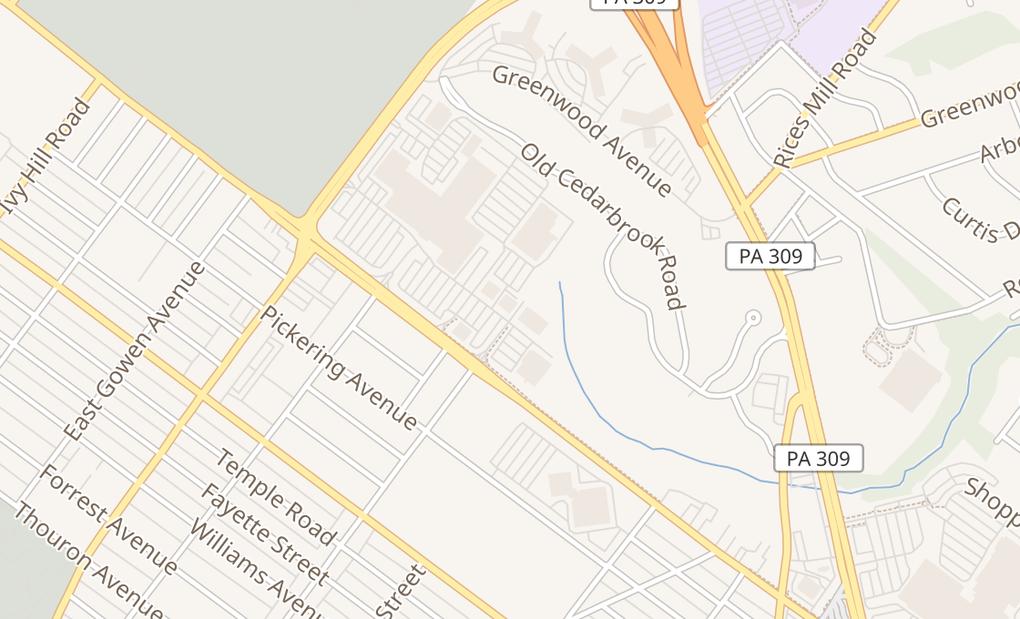 map of 3001 Cheltenham Ave Ste 3060Wyncote, PA 19095