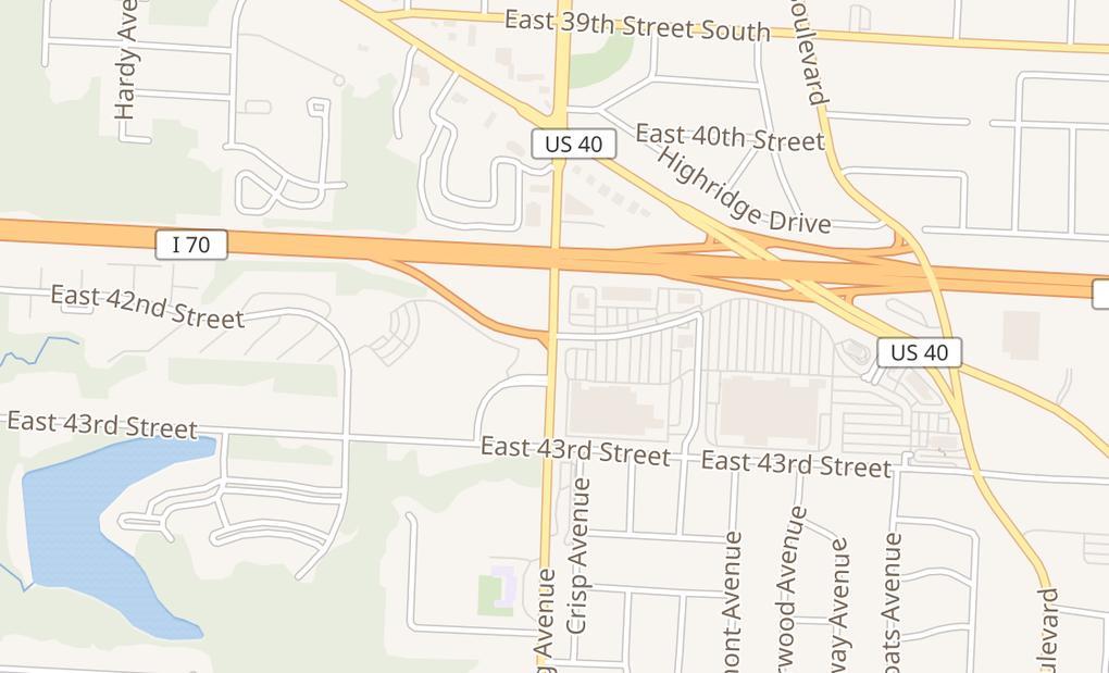 map of 4275 Sterling AveKansas City, MO 64133