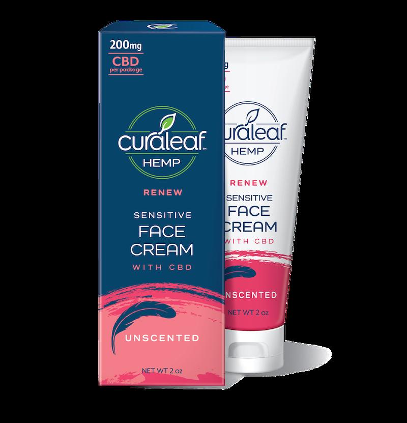 Face Cream 200mg CBD   Sensitive - CURALEAF HEMP