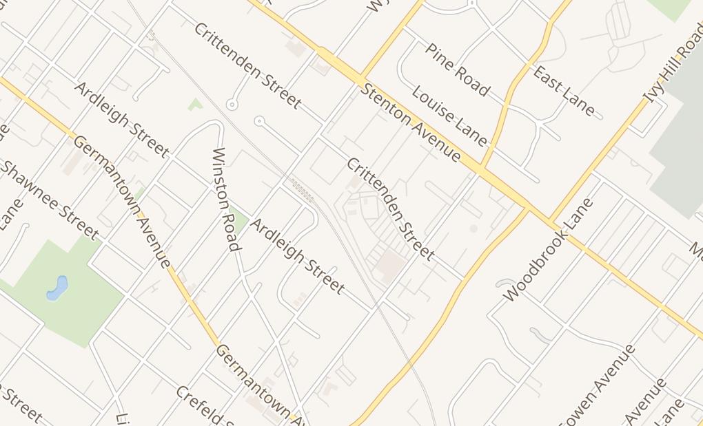 map of 7723 Crittenden St,Philadelphia, PA 19118