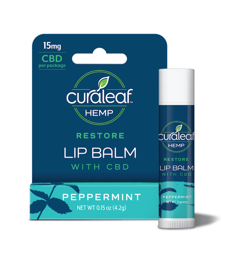 Lip Balm 5mg CBD   Peppermint - CURALEAF HEMP