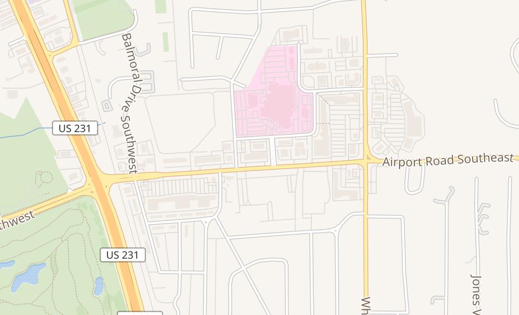 map of 700 Airport Rd Sw Ste GHuntsville, AL 35802
