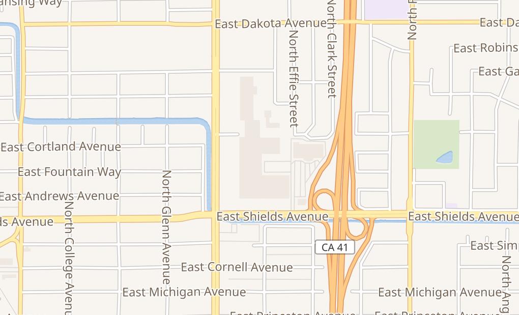 map of 3402 N Blackstone Ave Ste 180Fresno, CA 93726