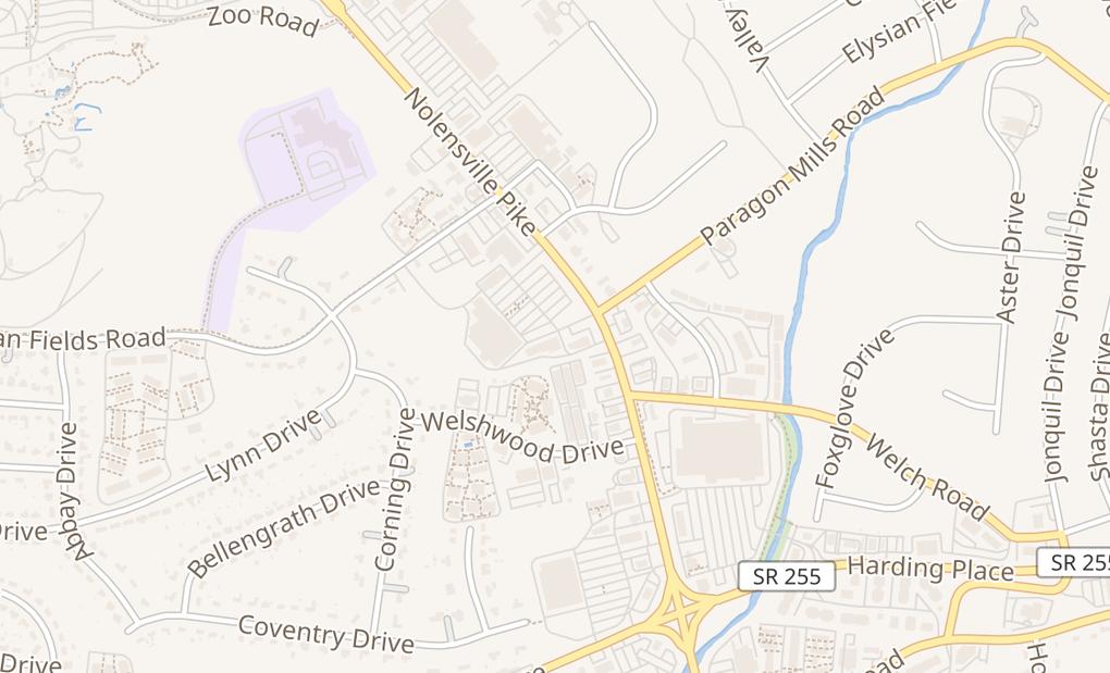 map of 3983 Nolensville RdNashville, TN 37211