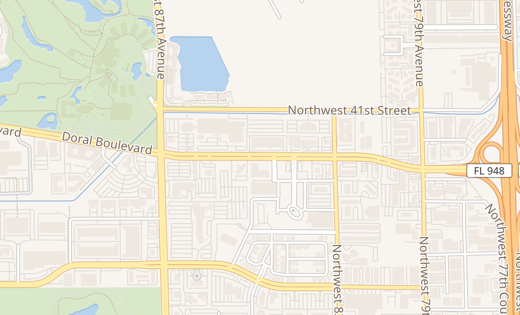 map of 8484 Nw 36Th St Ste 300Doral, FL 33166
