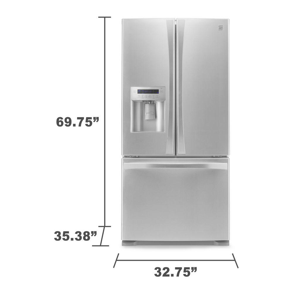 Kenmore Elite 73133 242 Cu Ft French Door Bottom Freezer