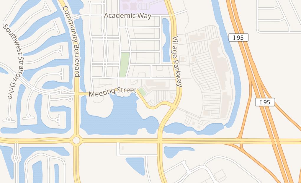 map of 10476 Sw Village Center DrPort St Lucie, FL 34987