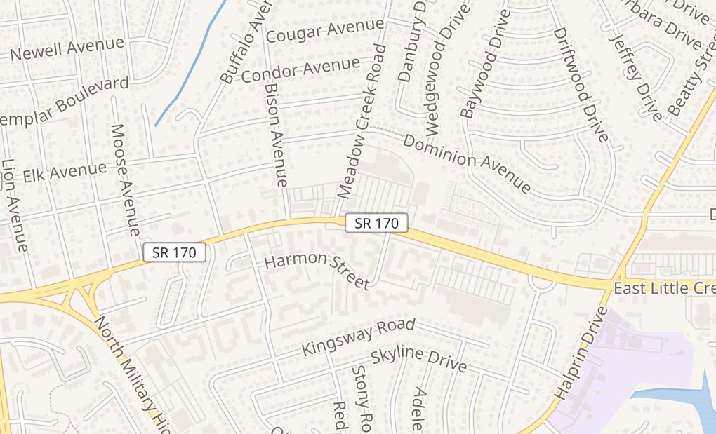 map of 1710 E Little Creek Rd Ste 105Norfolk, VA 23518