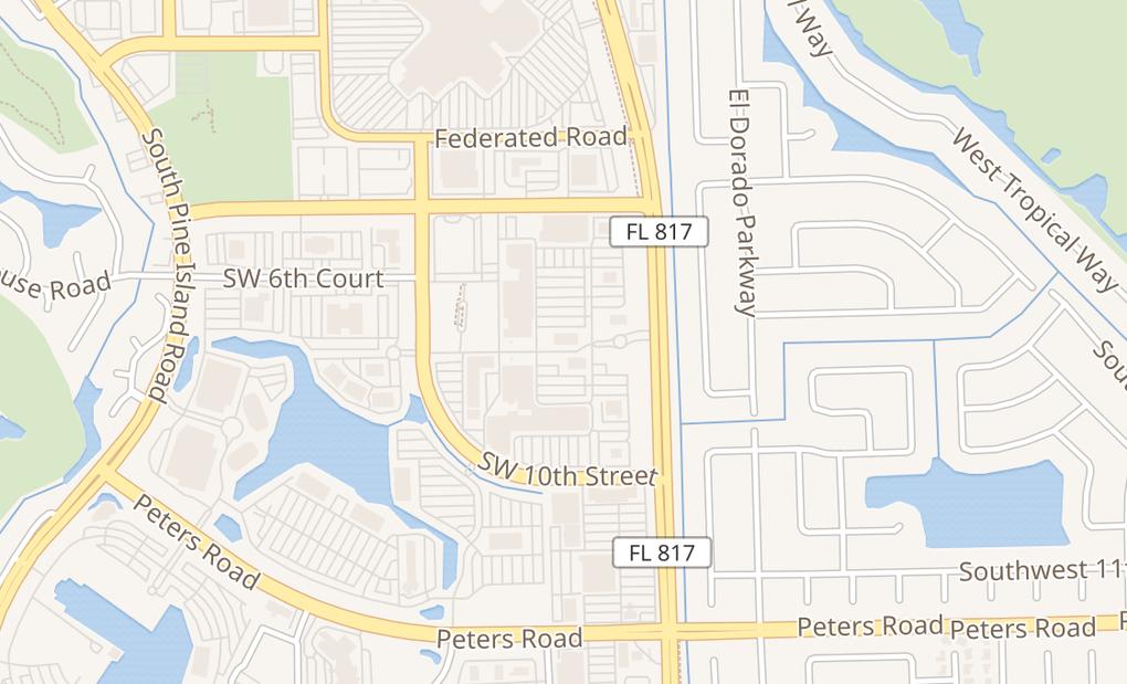 map of 801 S University Ste 120Plantation, FL 33324