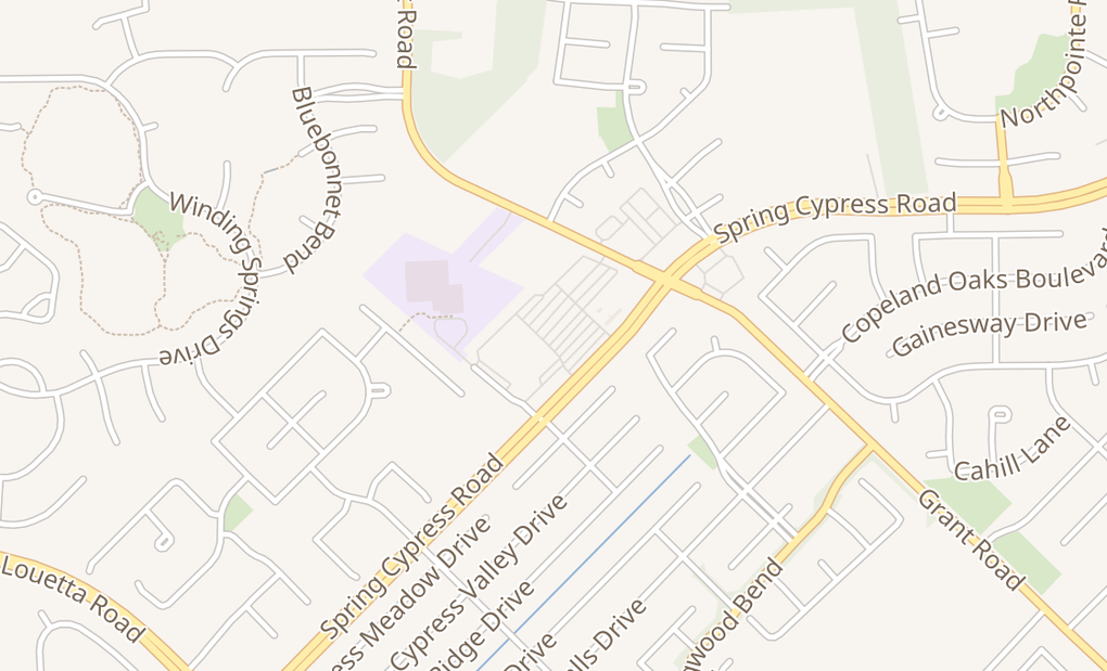 map of 14100 Spring Cypress RdCypress, TX 77429