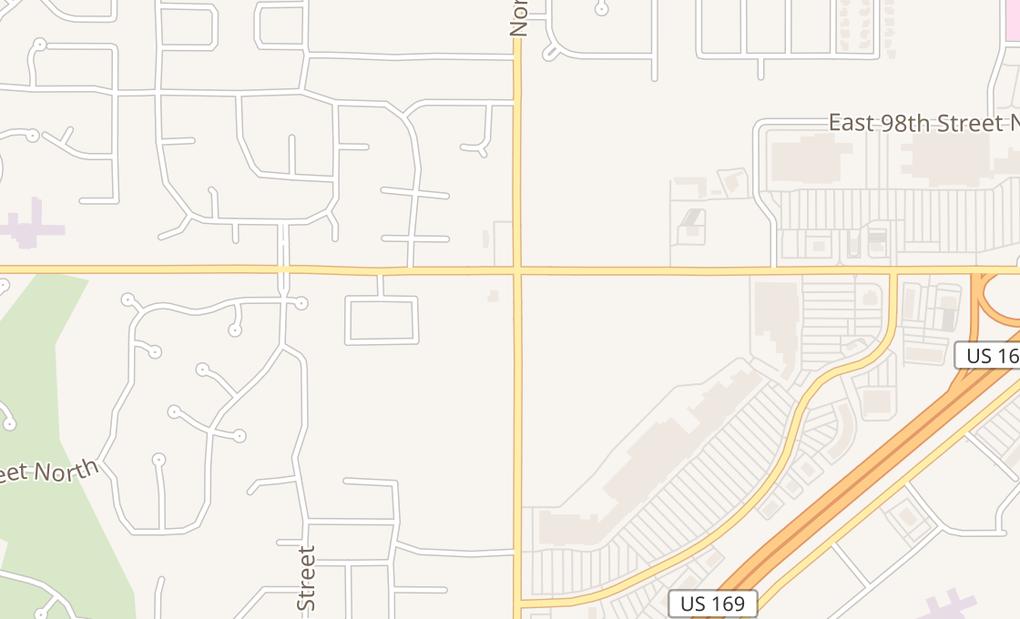 map of 9540 N Garnett Rd Ste 113Owasso, OK 74055