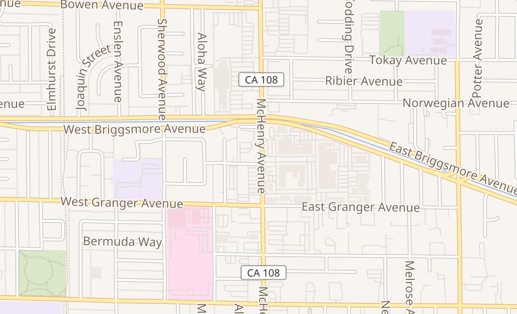 map of 1707 Mchenry Ave Ste A4Modesto, CA 95350