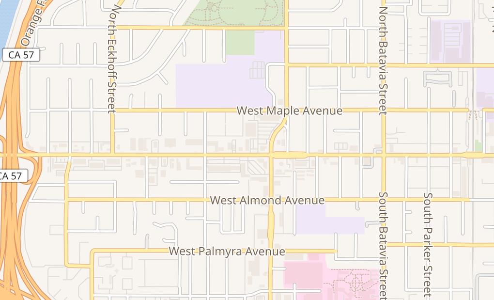 map of 1449 W Chapman AveOrange, CA 92868