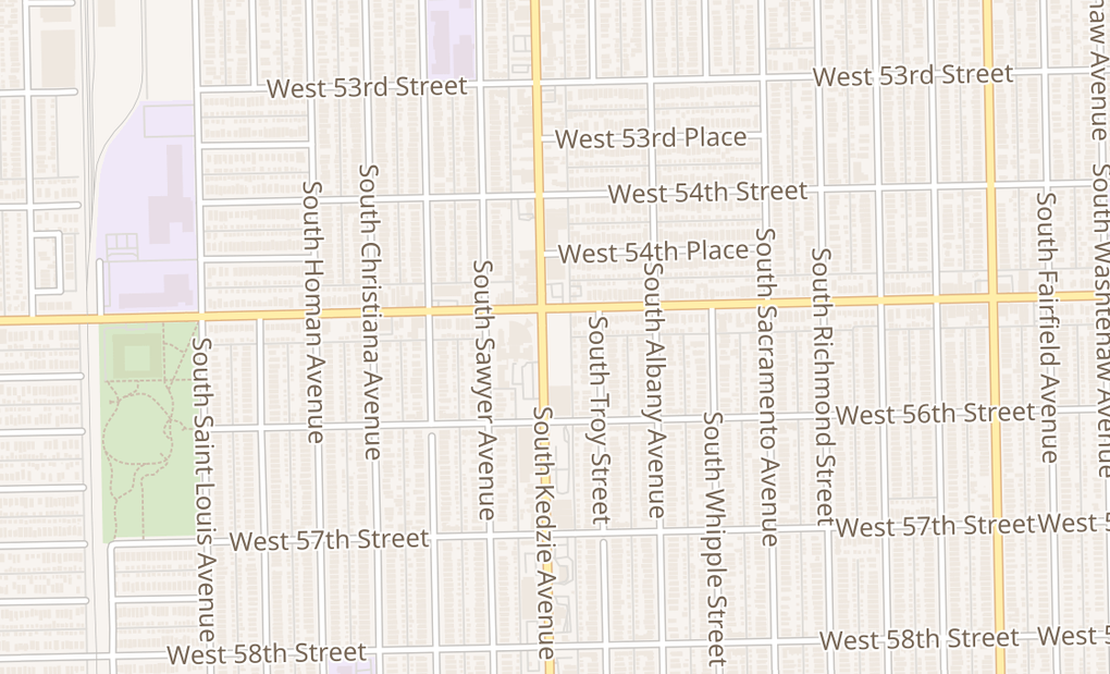 map of 5521 S Kedzie AveChicago, IL 60629