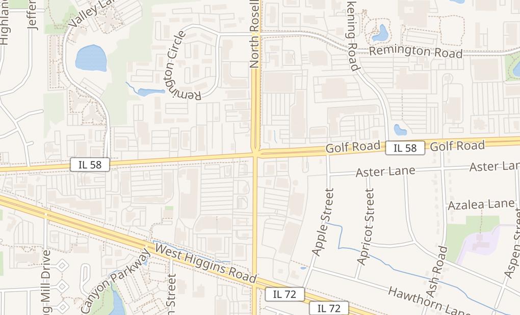map of 5 E Golf Rd Unit 5AHoffman Estates, IL 60169