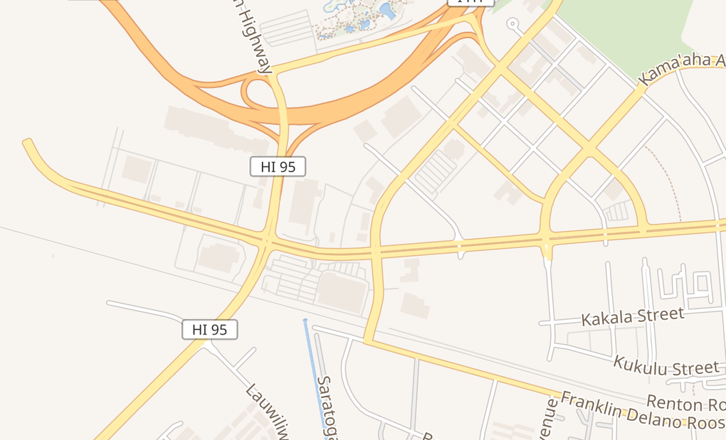 map of 338 Kamokila Blvd Ste 106Kapolei, HI 96707