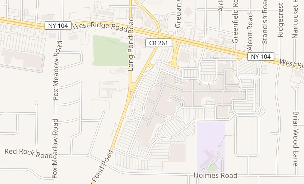 map of 350 Greece Ridge Center DrRochester, NY 14626