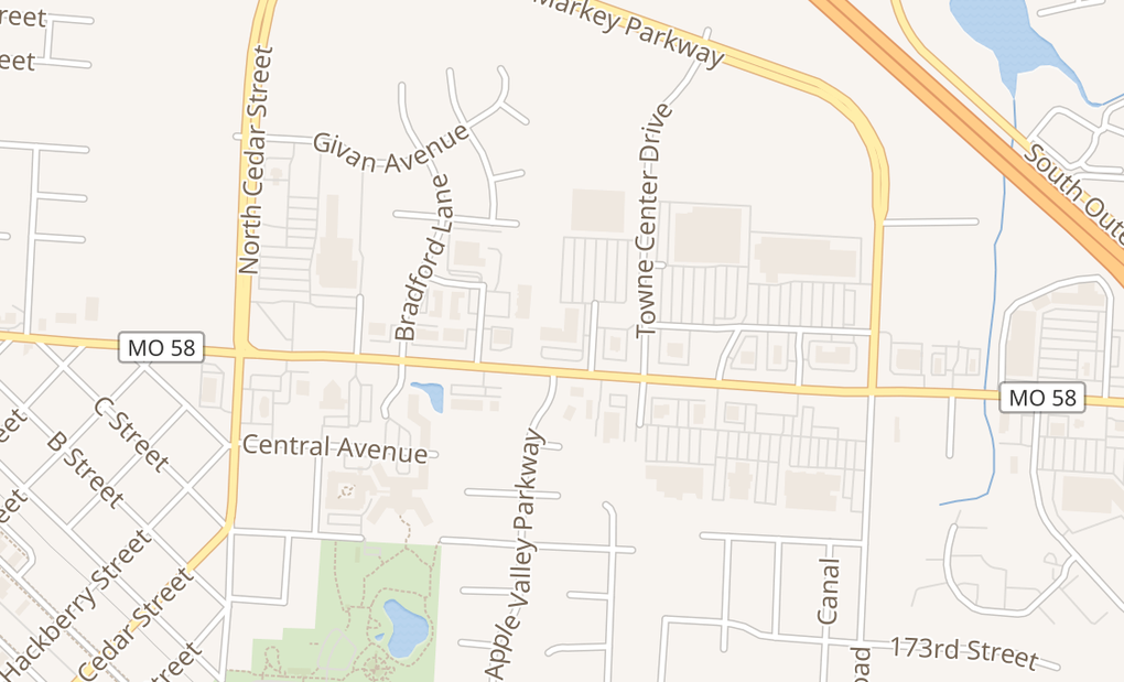 map of 906 E North Ave Ste GBelton, MO 64012