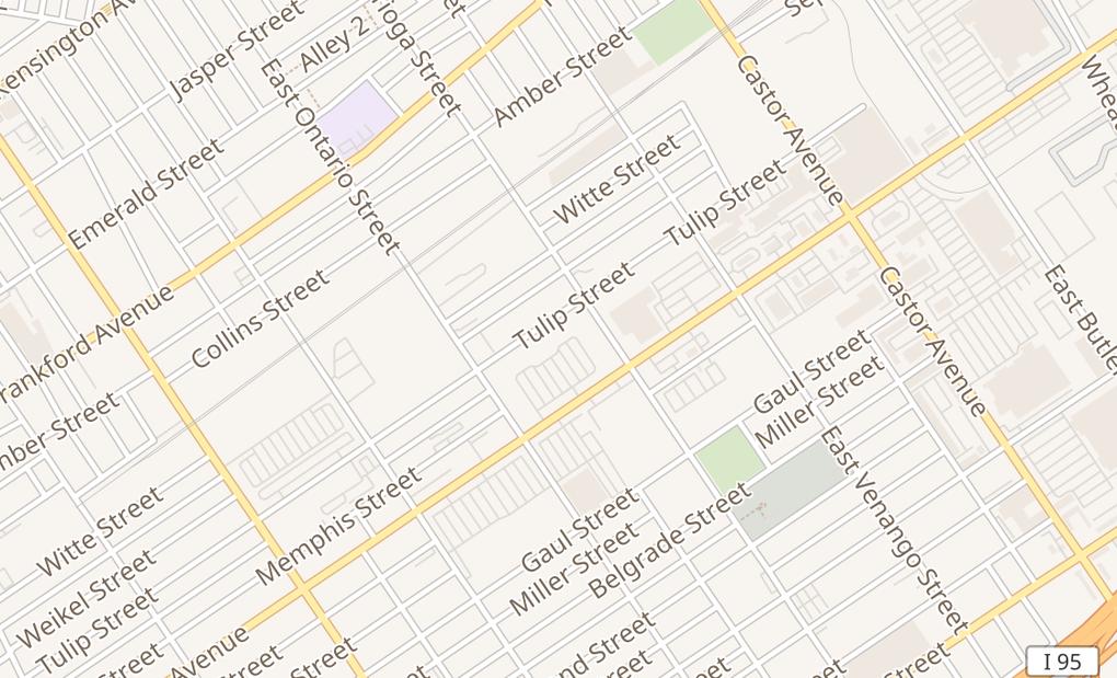 map of 3400 Aramingo Ave Imperial PlzPhiladelphia, PA 19134