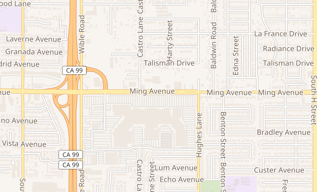 map of 2701 Ming Ave Ste 5512Bakersfield, CA 93304