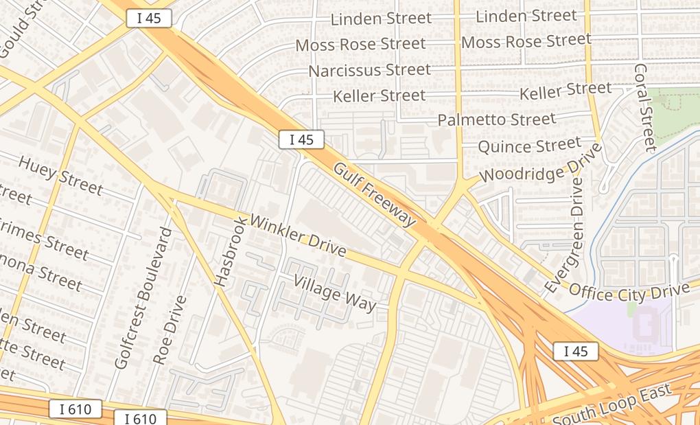map of 6888 Gulf Fwy Ste 630Houston, TX 77087