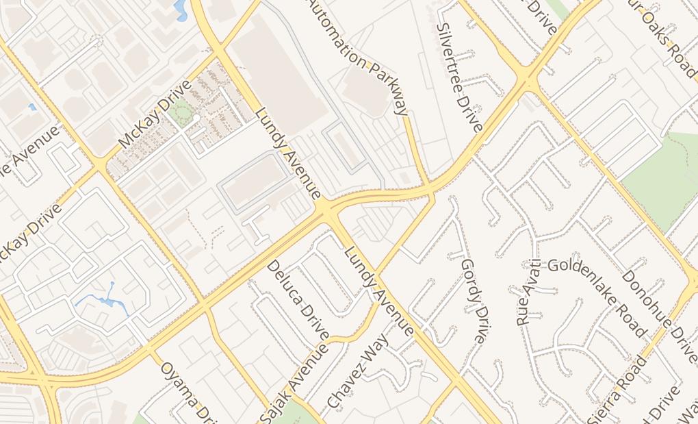 map of 1628 Hostetter Rd Ste LSan Jose, CA 95131