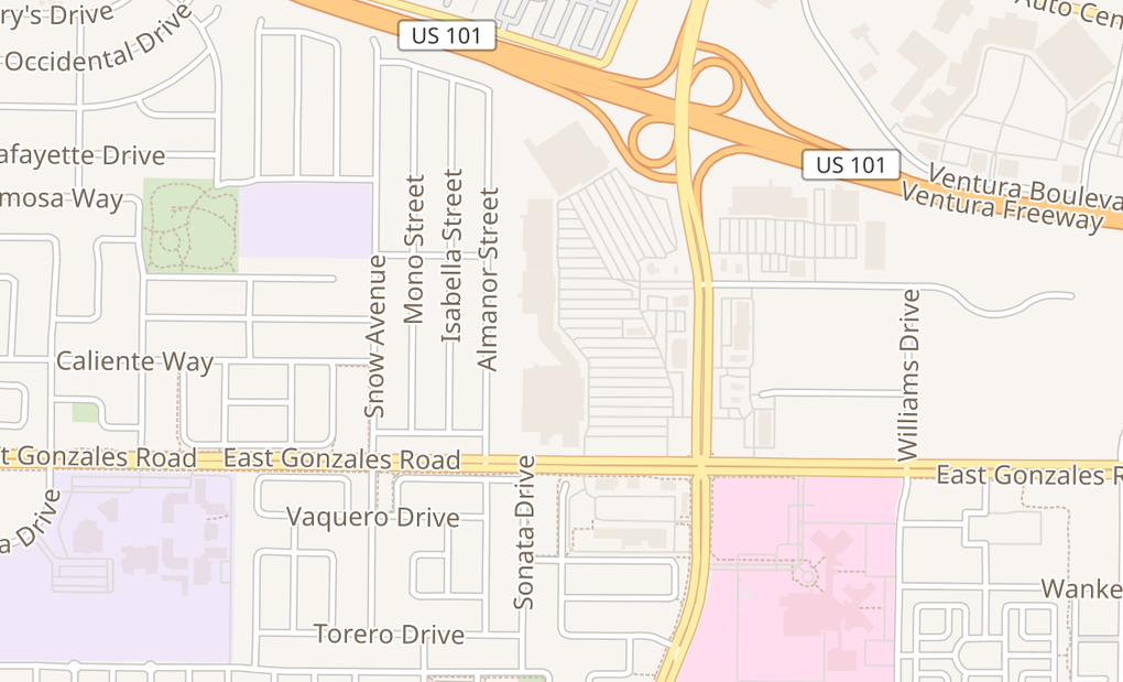 map of 2051 N Rose Ave Ste 220Oxnard, CA 93036