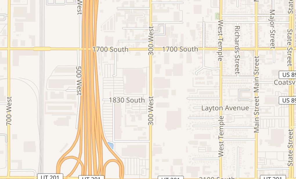 map of 1868 S 300 W Ste BSalt Lake City, UT 84115