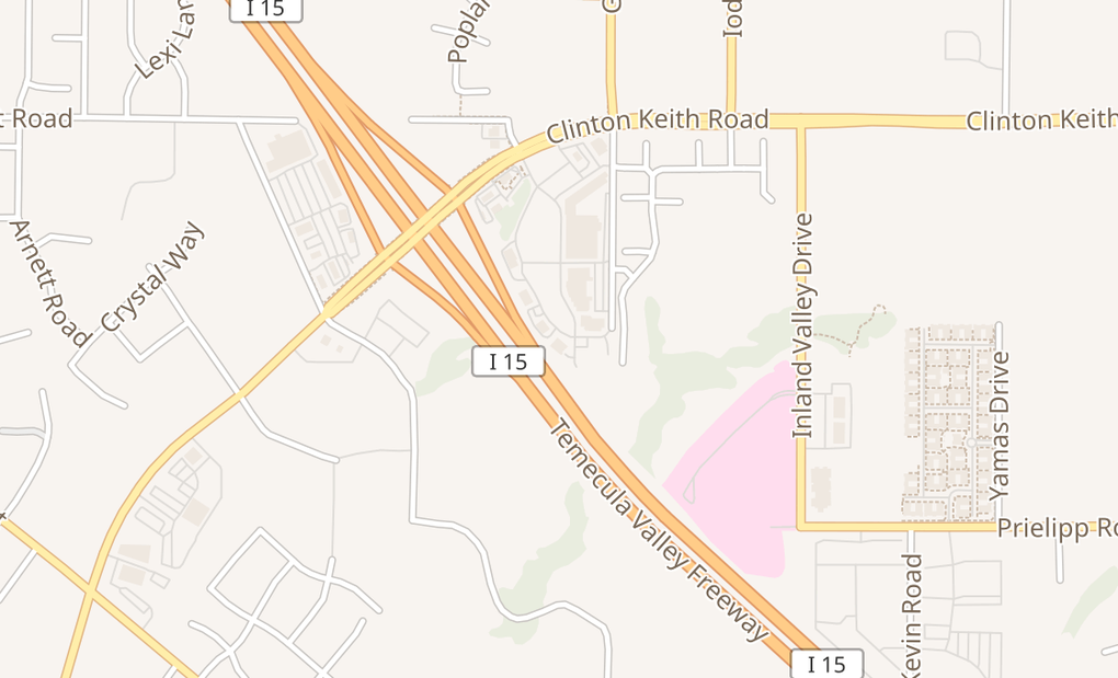 map of 23865 Clinton Keith Rd Ste M1Wildomar, CA 92595