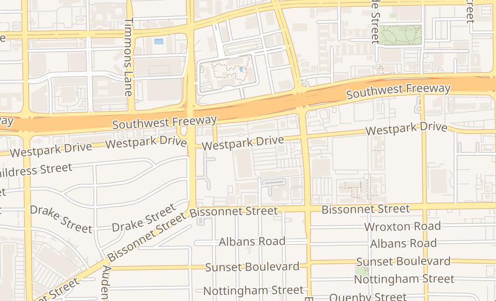 map of 3315 Westpark DrHouston, TX 77005