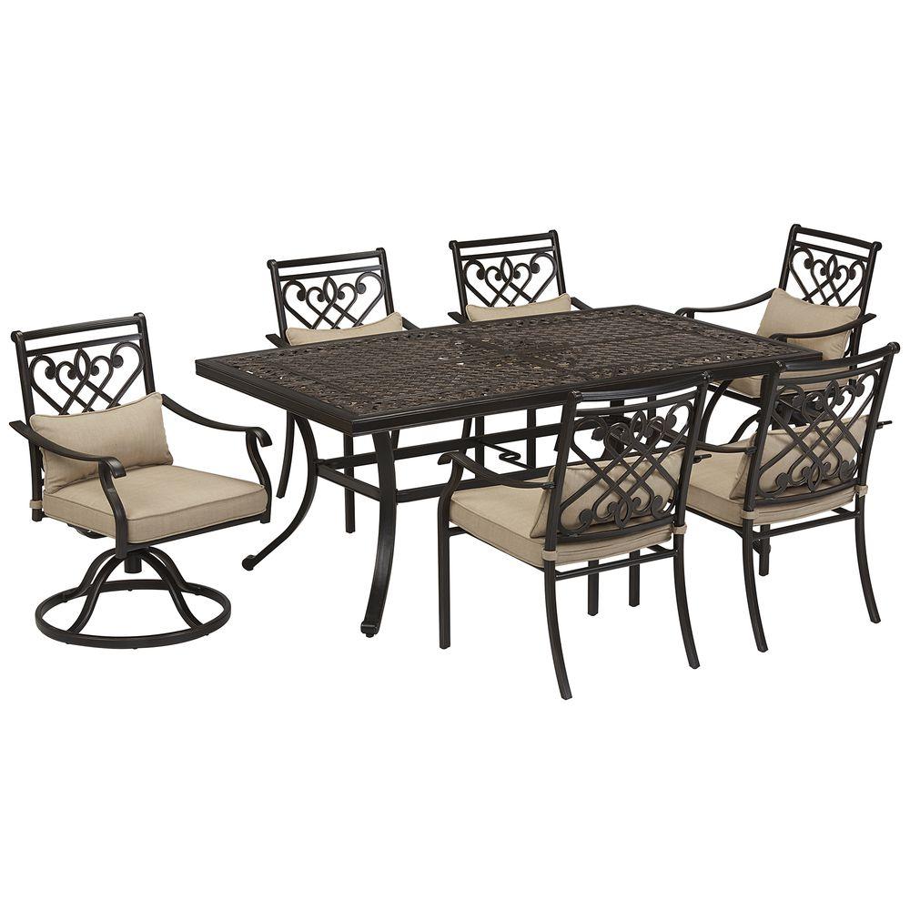 Buffalo, NY: Grand Resort Villa Park 7pc Cushion Dining Set L ...