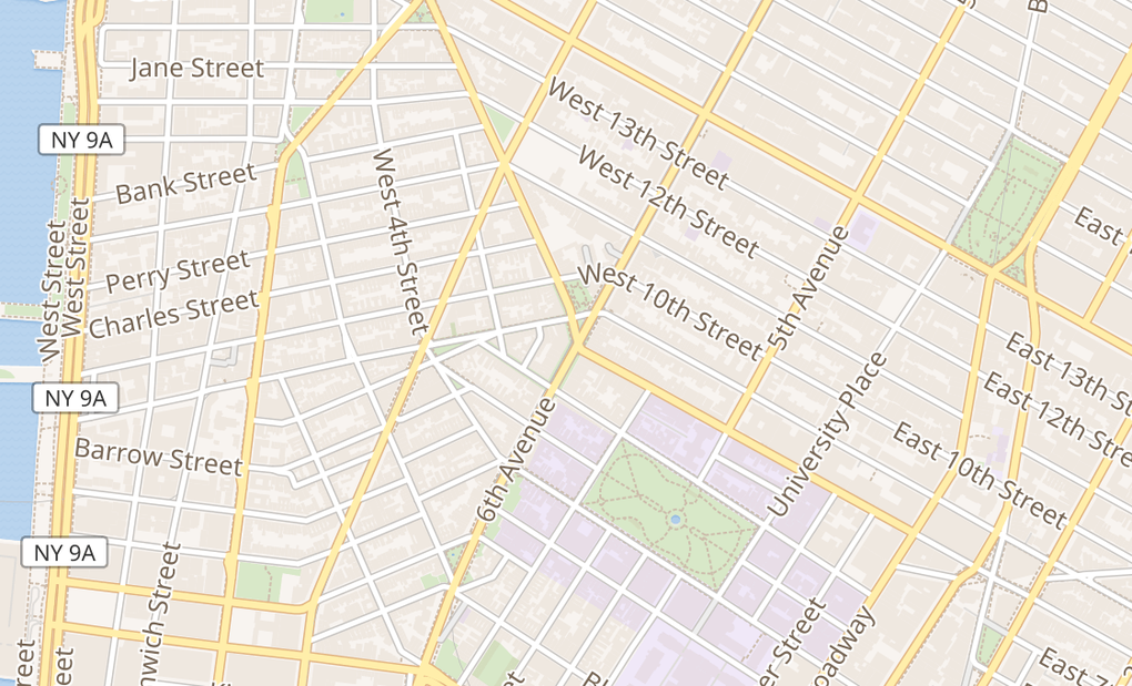 map of 403 Avenue Of The AmericasNew York, NY 10014