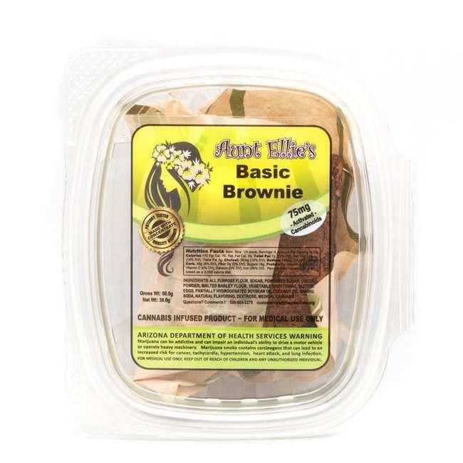 Basic Fudge Brownie | 75mg | Sativa - AUNT ELLIE'S