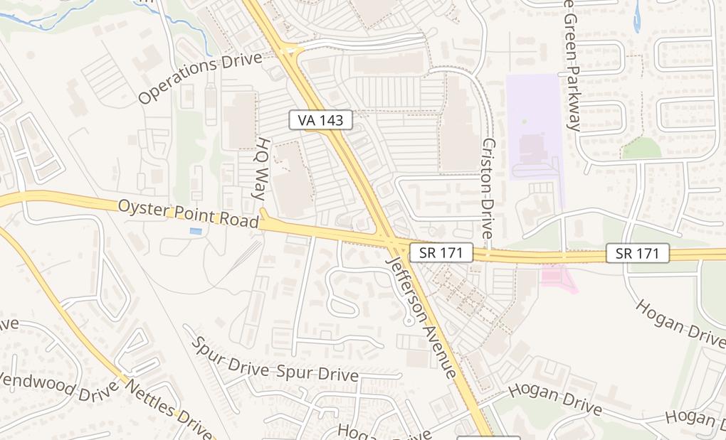 map of 12103 Jefferson Ave Ste BNewport News, VA 23602
