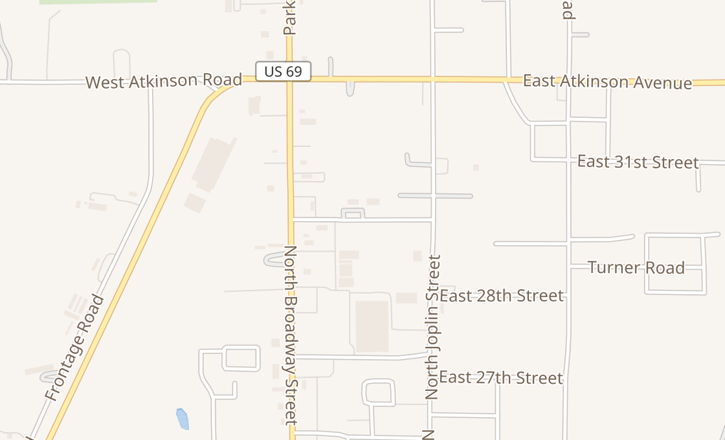 map of 101 W 29Th St Ste DPittsburg, KS 66762