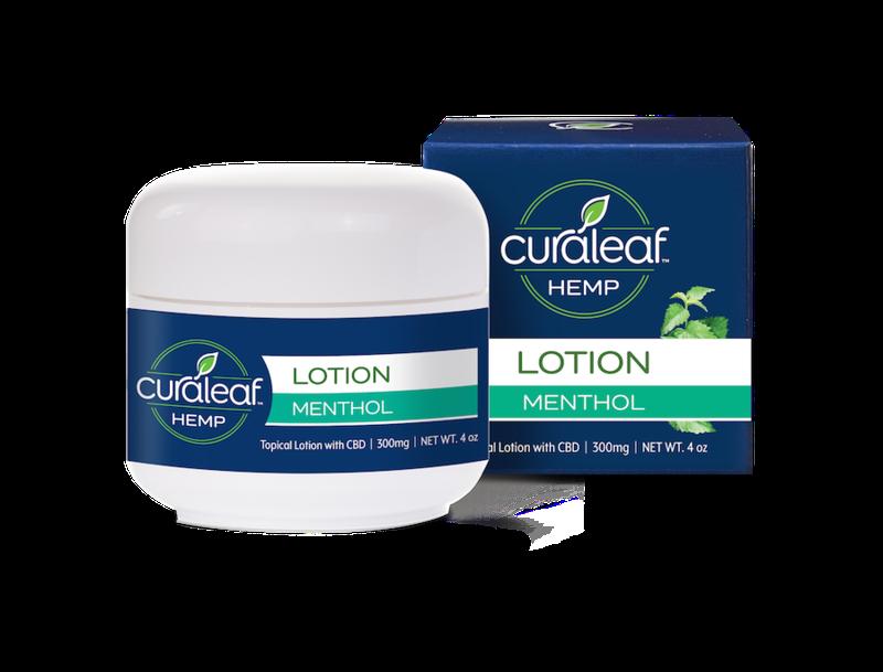 Menthol Lotion | 300mg | CBD - CURALEAF HEMP