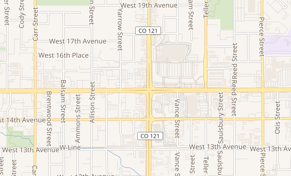 map of 7611 W Colfax Ave Ste CLakewood, CO 80214