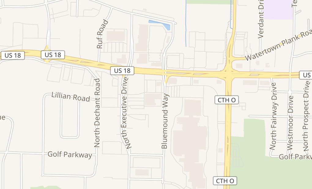 map of 16075 W Bluemound RdBrookfield, WI 53005