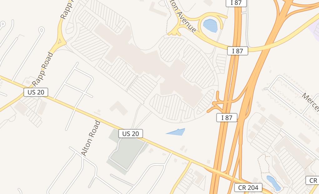 map of 1 Crossgates Mall Rd Spc K105AAlbany, NY 12203