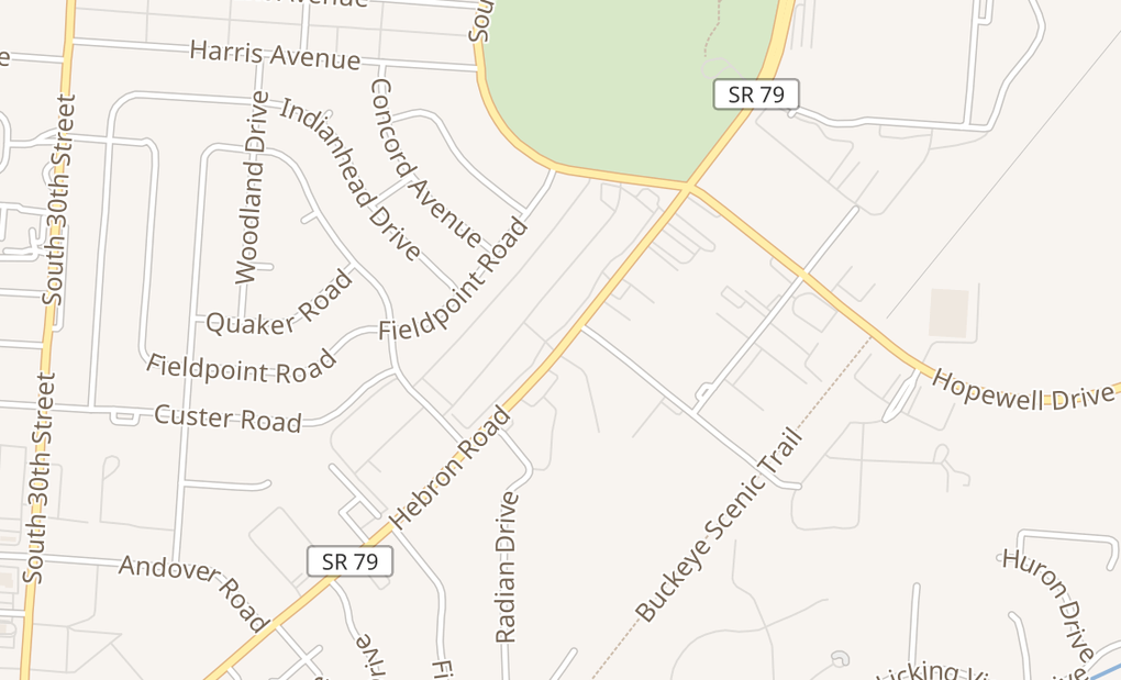 map of 597 Hebron Rd Ste 1Heath, OH 43056