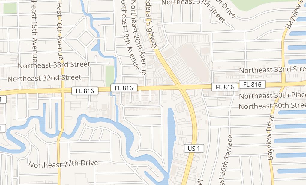 map of 2102 E Oakland Park BlvdFort Lauderdale, FL 33306