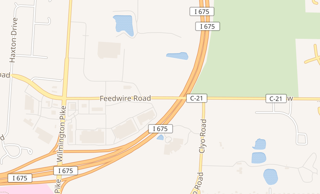 map of 4449 Feedwire RdCenterville, OH 45440