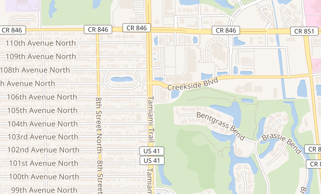 map of 10600 Tamiami Trl N Ste 602Naples, FL 34108