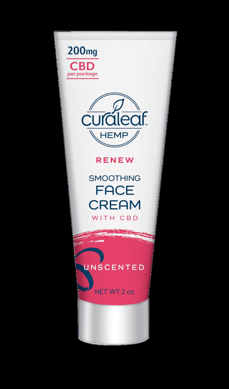 Hemp CBD Smoothing Face Cream - Unscented - Curaleaf