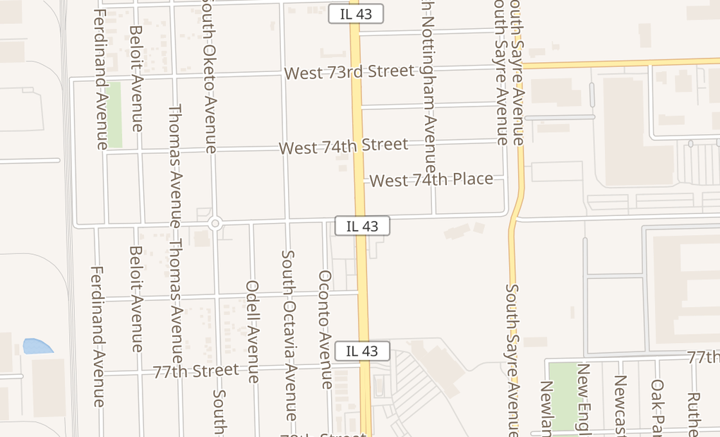 map of 7917 S Harlem AveBurbank, IL 60459