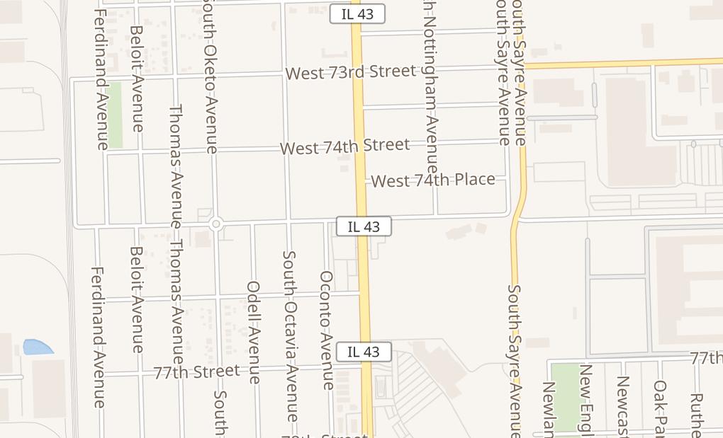 map of 7917 S Harlem AveBurbank, IL 60459