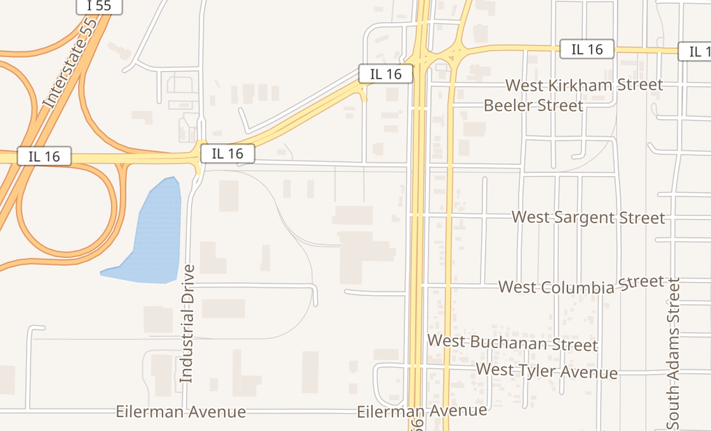 map of 1324 W Hudson DrLitchfield, IL 62056