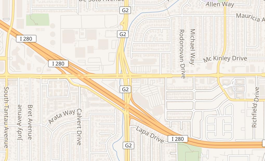 map of 5194 Stevens Creek BlvdSan Jose, CA 95129