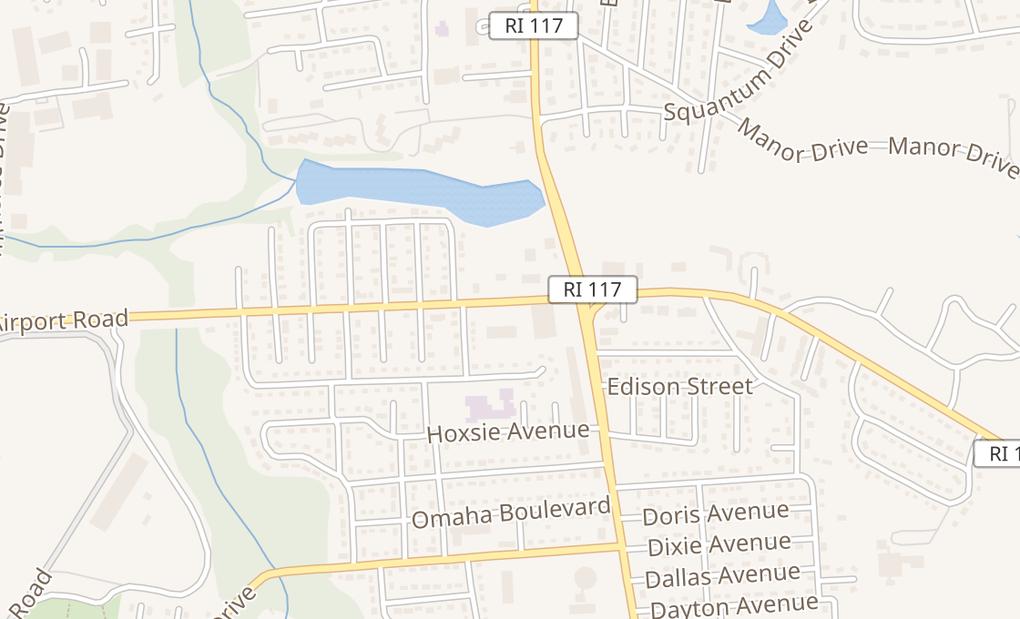 map of 40 Airport Rd Unit 50BWarwick, RI 02889