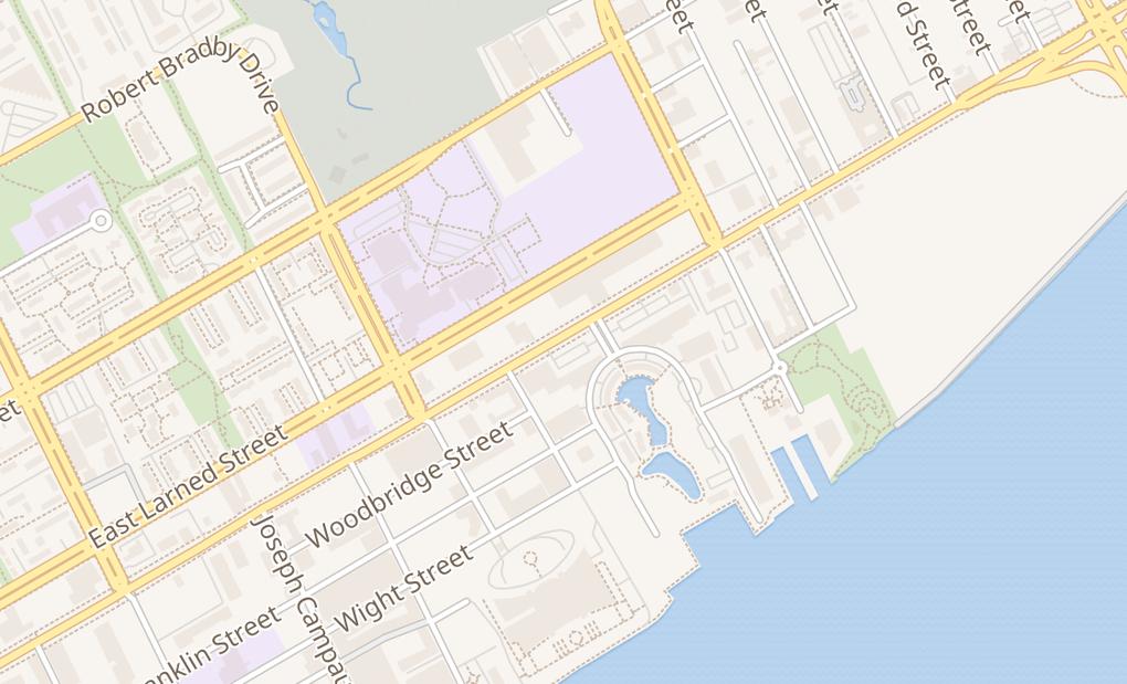 map of 3496 E Jefferson AveDetroit, MI 48207